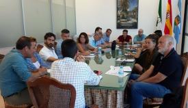 El gobierno municipal de La Línea, reunido en su totalidad este martes