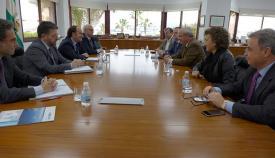 Imagen de la reunión entre los empresarios de la CEC y la Autoridad Portuaria de Algeciras