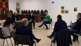 Reunión esta mañana entre responsables del gobierno local y pymes. Foto: lalínea.es