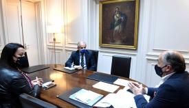 Landaluce recibe al nuevo director del Colegio Montecalpe