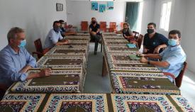 Un momento de la reunión entre el alcalde de La Línea y la comunidad islámica