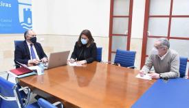 Landaluce mantiene un encuentro telemático con Irene García