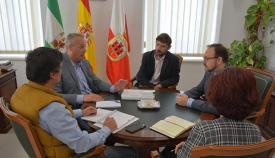Imagen de la reunión mantenida con Justicia en el Ayuntamiento de San Roque