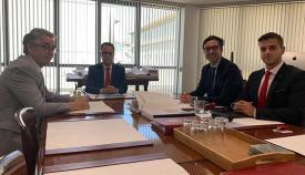 Reunión de julio pasado entre el Gobierno de Gibraltar y representantes del CWEIC. Foto InfoGibraltar