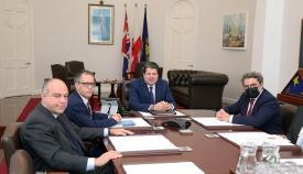 Reunión del senador Gutiérrez Limones con representantes del Gobierno de Gibraltar. Foto InfoGibraltar