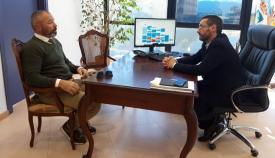 Alexis García Iglesias y Juan Franco, en su reunión de esta mañana