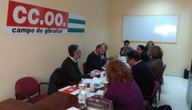 Reunión de la ejecutiva comarcal de CCOO