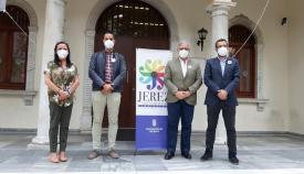 Dirigentes de Jerez y La Línea, esta mañana. Foto: lalínea.es