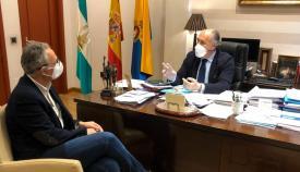 Landaluce se reúne con Juan Lozano para aunar fuerzas contra el Covid-19