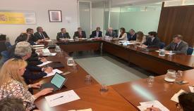 Imagen de la reunión en la oficina de la AGE en Algeciras