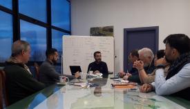 Juan Franco y sus tenientes de alcalde, reunidos esta mañana