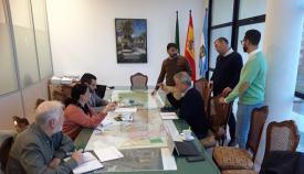 Un momento de la reunión de los tenientes de alcalde de La Línea