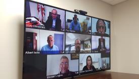 Picardo se reunió de manera virtual con su equipo. Foto Gobierno de Gibraltar