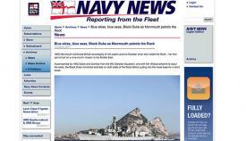 Captura de pantalla del reportaje de la Royal Navy sobre el Mommouth y Gibraltar