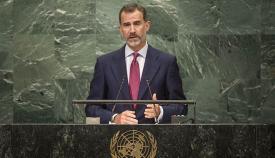 Rey España habla de Gibraltar en las Naciones Unidas en 2016