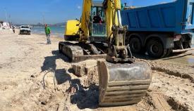 Continúan los trabajos de recuperación en la playa del Rinconcillo