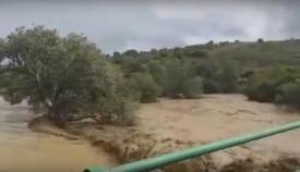 Las fuertes lluvias provocaron el desbordamiento de algunos ríos