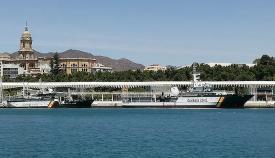 Los buques oceánicos 'Río Segura' y 'Río Miño', en el puerto de Málaga, este pasado fin de semana. Foto: LR