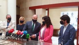 Rocio Ruiz, consejera de Igualdad, en una visita al Ayuntamiento de Algeciras. Foto: NG