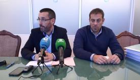 Juan Franco y Juan Macías, en rueda de prensa