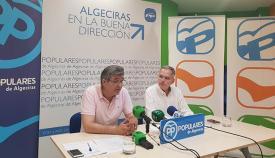 Luis Ángel Fernández, en la sede del PP