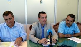 Rafael Fosela, Juan Franco y Manuel Abellán durante la rueda de prensa