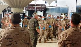 El contingente ceutí fue despedido a finales de mayo en Sevilla por el comandante de la Fuerza Terrestre. Foto EMAD
