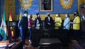 Landaluce recibe a Ana Fidalgo en su primera visita oficial a Algeciras