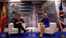 Pedro Sánchez y Theresa May, en imagen de archivo