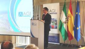 Antonio Sanz, durante la intervención en la AGI