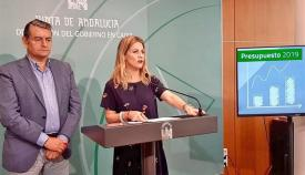 Antonio Sanz y Ana Mestre, este sábado en rueda de prensa