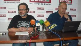 Sebastián Alcón y Miguel Alberto Díaz, de CCOO