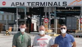 CSIF entra en la terminal de Maersk en el puerto de Algeciras