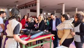 El alcalde y la concejal de Educación visitaron hoy el instituto linense