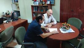 Los responsables comarcales de UGT y CCOO, Serrano y Triano