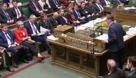 Sesión de hoy en la Cámara de los Comunes