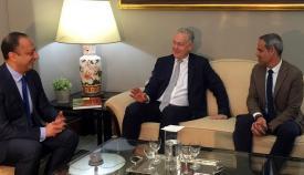 Gómez de Celis, Manley y Pacheco en la reunión de este viernes