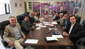 Reunión de los sindicatos, en abril pasado, cuando acordaron crear la organización interregional