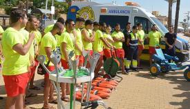 Equipo de socorristas para las playas de San Roque