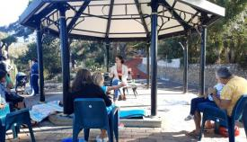 Un momento de la narración de cuentos al aire libre. Foto Gobierno de Gibraltar