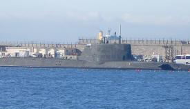 El HMS Ambush, atracado en Gibraltar