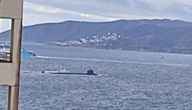 Submarino de Estados Unidos en la bahia, noviembre 2020. Foto Verdemar