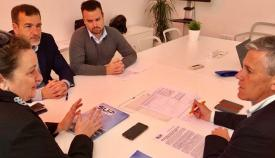 Responsables del SUP se han reunido este miércoles con dirigentes de C´s