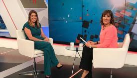 La presidenta Susana Díaz, hoy en Canal Sur