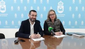 Juan Franco junto a Susana González, cuando ambos eran socios de gobierno. Foto: NG