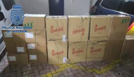 El cargamento intervenido por la Policía Nacional. Foto: Ministerio del Interior