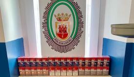 Imagen del tabaco de contrabando incautado por la Policía Local de San Roque