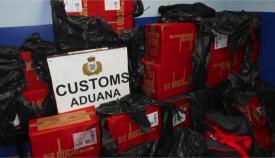 Imagen del tabaco intervenido por el servicio de Aduanas