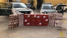 Las cajetillas de tabaco de contrabando incautadas por la Guardia Civil en La Línea