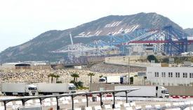 Instalaciones de Tánger Med 2, el puerto más grande de Marruecos. Foto NG
